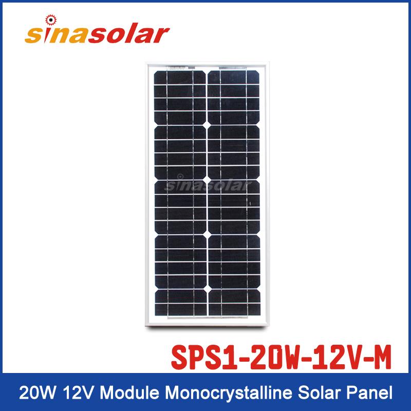 Solar Panel SPS1-20W-12V-M